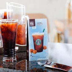Starbucks VIA® Caramel Flavored Iced Coffee. C$ 6.95 at StarbucksStore.com