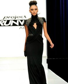 i like the neckline of this. i couldn't find a picture of the back, but its really interesting if you get a chance to watch the project runway allstars, by michael costello
