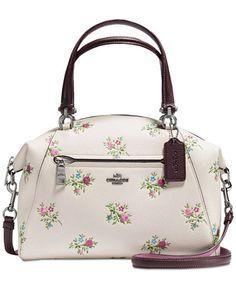 7fc0871af4 COACH Prairie Satchel with Cross Stitch Floral Print & Reviews - Handbags &  Accessories - Macy's. Sacs À Main PopulairesSac ...
