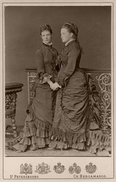 "Sisters-in-Laws the Empess Maria Feodorovna of Russia and Queen Olga of the Hellenes (the former Grand Duchess Olga Konstantinovna Romanova of Russia). ""AL"""