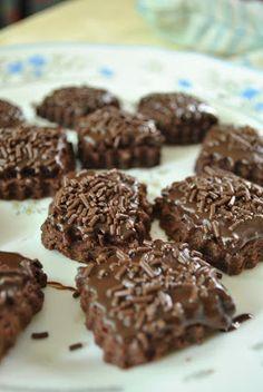 Rice Cookies, Biscuit Cookies, Yummy Cookies, Cookie Recipes, Snack Recipes, Snacks, Resepi Cookies, Cookie Brownie Bars, No Bake Cake
