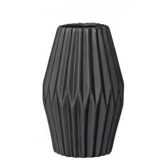 Svartur / mattur keramikvasi