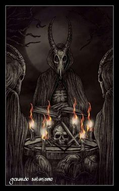 Dark Art Paintings, Dark Art Drawings, Theistic Satanism, Imagenes Dark, Dark Wallpaper Iphone, Satanic Art, Evil Art, Horror Artwork, Arte Obscura
