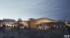 CGarchitect - Professional 3D Architectural Visualization User Community | New Pavilions on Main Market Square of Turku