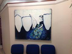 Bello cuadro para consultorio dental