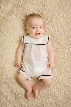 Nautical One Piece Baby Boy Dress, Baby Boy Outfits, Kids Outfits, Little Boy Fashion, Fashion Kids, Vintage Baby Clothes, Baby Sewing Projects, Baby Shirts, Little Girl Dresses