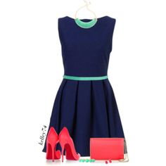 Navy & Neon for Spring