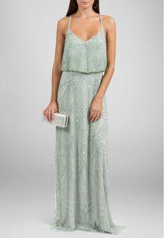 Aluguel de Vestidos Online PowerLook - Adrianna Papell Vestido Brenda longo bordado de alcinha Adrianna Papell - verde #AdriannaPapell #vestido #verde #vestidomardinha #vestido #de #madrinha #vestidoBordado #vestidolongo