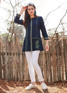 Buy tops online for girls in india. Wide range of trendy women tops and tunics at voonik with best prices . Shop like a stylist: buy tops online with ease. Latest Top Designs, Latest Tops, Womens Trendy Tops, Yellow Fabric, Western Wear, Daily Wear, Kurti, Online Shopping, Tunic