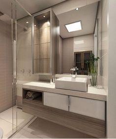 """""""Inspiração✔️ #ambientes #arquitetura #archlovers #arquiteturadeinteriores #inspiração #homedecor #homestyle #homedesign #home #interiores #bathroom…"""""""