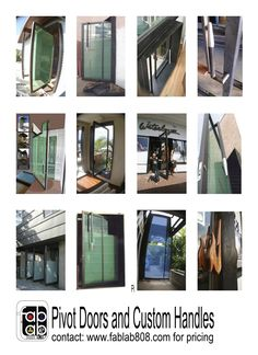 fablab808 studios collection of work on PIVOT DOORS