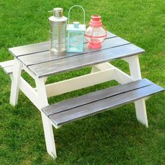 I Want To Make This DIY Furniture Plan From AnaWhitecom Our - One sided picnic table