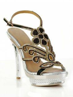 Sheepskin Rhinestones Sandals