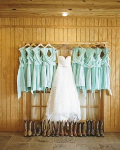 Bride's and her bridesmaids' outfits - a little bit of country for everyone - #CowgirlWedding