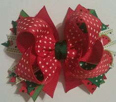 Check out this item in my Etsy shop https://www.etsy.com/listing/273731272/watermelon-themed-stacked-grosgrain