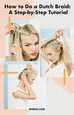 A Step-by-Step Dutch Braid Tutorial Even Beginners Can Handle Dutch braids may look fancy, but they're easier to create than you think. Here's a step-by-step photo guide on how to dutch braid your own hair. Dutch French Braid, Dutch Braid Half Up, French Braided Bangs, Dutch Braids, French Braids, Braids Easy, Braids Cornrows, Bob Braids, Fulani Braids