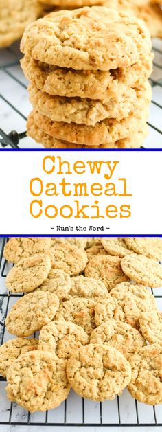 For soft and Chewy Oatmeal Cookies that exceeds all your expectations, look no further. It is loaded with oats, delicious butter, sweet sugar, and fresh eggs melding into a delicious tasting cookie with every bite. #cookie #dessert #christmascookies #oatmealcookies #chewyoatmealcookies #easyoatmealcookies #bestoatmealcookies #softoatmealcookies #oldfashionedoatmealcookies #oatmealcookierecipe #recipe #numstheword Old Fashioned Oatmeal Cookies, Soft Oatmeal Cookies, Oat Cookies, Spice Cookies, Yummy Cookies, Cookies Et Biscuits, Oat Cookie Recipe, Oatmeal Cookie Recipes, Cookie Desserts