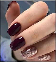 100 Trendy Stunning Manicure Ideas for Short Acrylic Nails Design Page 88 . - 100 Trendy Stunning Manicure Ideas for Short Acrylic Nails Design Page 88 of 101 # fashionshoot - Colorful Nail Designs, Fall Nail Designs, Acrylic Nail Designs, Rose Nail Art, Rose Gold Nails, Gold Gel Nails, Cute Nails, Pretty Nails, Cute Fall Nails