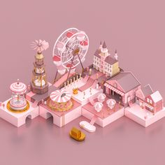 "Check out this @Behance project: ""Pink Toy World"" https://www.behance.net/gallery/63187279/Pink-Toy-World"
