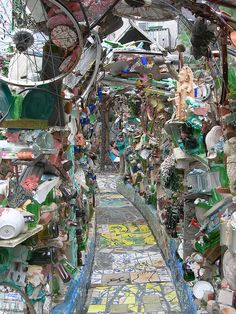 Philadelphia's Magic Gardens is an awesome and inspiring place to visit.