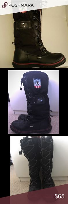 Tall snow boots by PAJAR CANADA Wool lined - waterproof snow boots - super comfy- worn 3 times just for vacation. Where I live we don't have snow so I'm not gonna need them anymore. Size 7- 7 1/2. Excellent condition. Make an offer :) Pajar CANADA Shoes Winter & Rain Boots