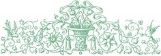 Public Domain Illustrations - Ornamental Birds - Scrolls - The Graphics Fairy