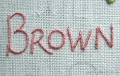 Hand Embroidered Let