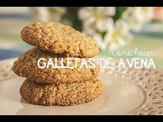 How to make easy oatmeal cookies My Recipes, Cookie Recipes, Favorite Recipes, Avena Recipe, Oatmeal Cookies, Sweet Cakes, Sin Gluten, Healthy Treats, Granola