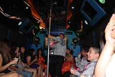 Fotografía en party bus. Forth Worth Tx