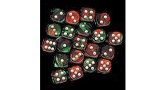 6  12MM GREEN RED W/WHIT D6 DICE CHX26831 WARHAMMER 40K #Chessex