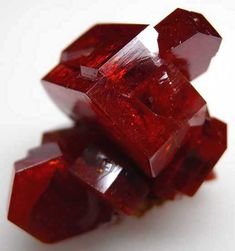 Vanadinite: albeit a poisonous substance, has a strong connection with the earth and is a very grounding stone; aids in correcting body dismorphia; facilitates deep meditative states and connects thought with intellect | #perspicacityparty #magicgeodes #vanadinite