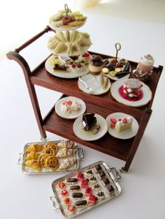 Dessert cart with sweets by English Kitchen
