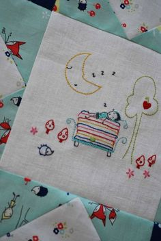 My new Enchanted pattern - block 2 {Princess and the Pea}