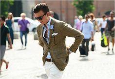 tweed jacket chinos spezzato