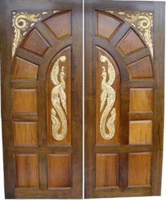 This is Ash Solid Wood Main Double Door. Code is Product of Doors - Inported Ash Wood Latest design - Solid Wood Doors that are available in various specifications and materials based on the clients Al Habib Main Door Design Photos, House Main Door Design, Home Door Design, Double Door Design, Wooden Door Design, Unique House Design, Front Door Design, Beautiful Front Doors, Door Picture