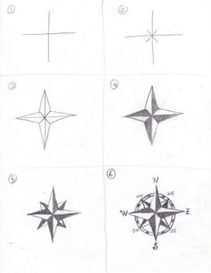 Compass Drawing How to - Things to Draw, Doodles, Bujo ideas, Pencil drawing, simple drawing, easy drawing  #drawing