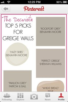 Using Perfect Greige in the office/dog room and maybe in a bedroom.