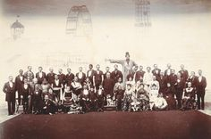 'The Olympian Freaks, London', the Barnum & Bailey Circus, c1897–98 American circuses often included what were then known as 'freak exhibitions', which could be viewed as a sideshow before the circus performance began. One such 'entertainer' in the Barnum & Bailey Circus was Jo-Jo, (pictured fourth from left in the second row), who was billed as ''the human Skye terrier, with a face covered with hair like an animal's''