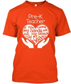 Pre-K Teacher T-shirt - Full Heart   Teespring