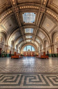 Union Station Seattle Washington Someday, I'll arrive on a train to this city! Tacoma Washington, Washington State, Western Washington, Amazing Architecture, Art And Architecture, Seattle Architecture, Historical Architecture, Trains, Sleepless In Seattle