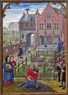 March - labours of the months | da petrus.agricola