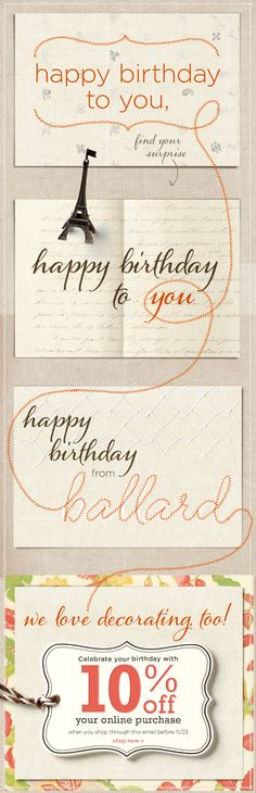 Designed this scrollable birthday email yesterday for #Ballard.