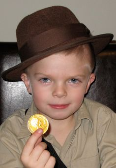 A picture of my son at his Indiana Jones Birthday Party.