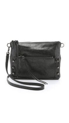 wisdom: / Roughdried leather contribute a advanced look to this Botkier cross body bag. Black Crossbody Purse, Crossbody Shoulder Bag, Leather Crossbody, Shoulder Bags, Crossbody Bags, Leather Purses, Leather Handbags, October Fashion, Black Purses