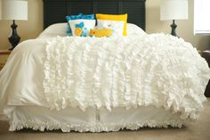 Love the ruffles!  You would think I could just find some ruffled ribbon, but no, it looks like I will be making my own!