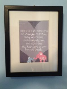A cute find on Etsy.  http://www.etsy.com/listing/97390733/elephant-quote-poster-for-babys-nursery