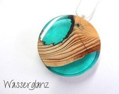 Wood resin Pendants with statement jewelry unique necklace resin Resin Ring, Resin Pendant, Etsy Jewelry, Handmade Jewelry, Resin Jewelry Making, Resin Jewellery, Unique Necklaces, Unique Jewelry, Resin Artwork
