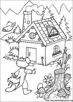 Resultado de imagem para os tres porquinhos desenhos para colorir