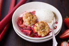 Strawberry Rhubarb Bourbon Cobbler with Ginger Oat Scones | The Bojon Gourmet