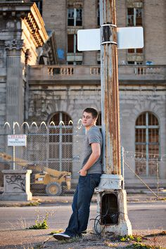 Detroit Urban Decay and Urban Blight Senior Portraits